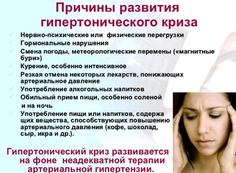 первая помощь при гипертоническом кризе препараты