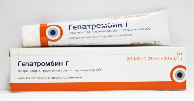 мазь гепатромбин г инструкция по применению