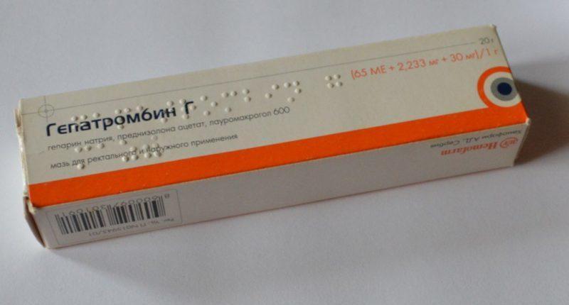 гепатромбин гель таблетки и крем